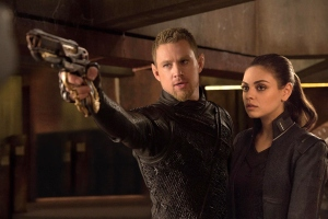 EXCLUSIVE TO USA TODAY FOR FIRST USE Channing Tatum and Mila Kunis in a scene from the motion picture